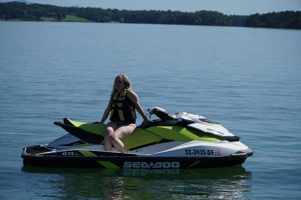 Waverunners - Our jet skis are fast and flashy - the perfect way to spend your day on the water! Seating up to 3* people, they are a great way to tour the spectacular Lake Keowee.