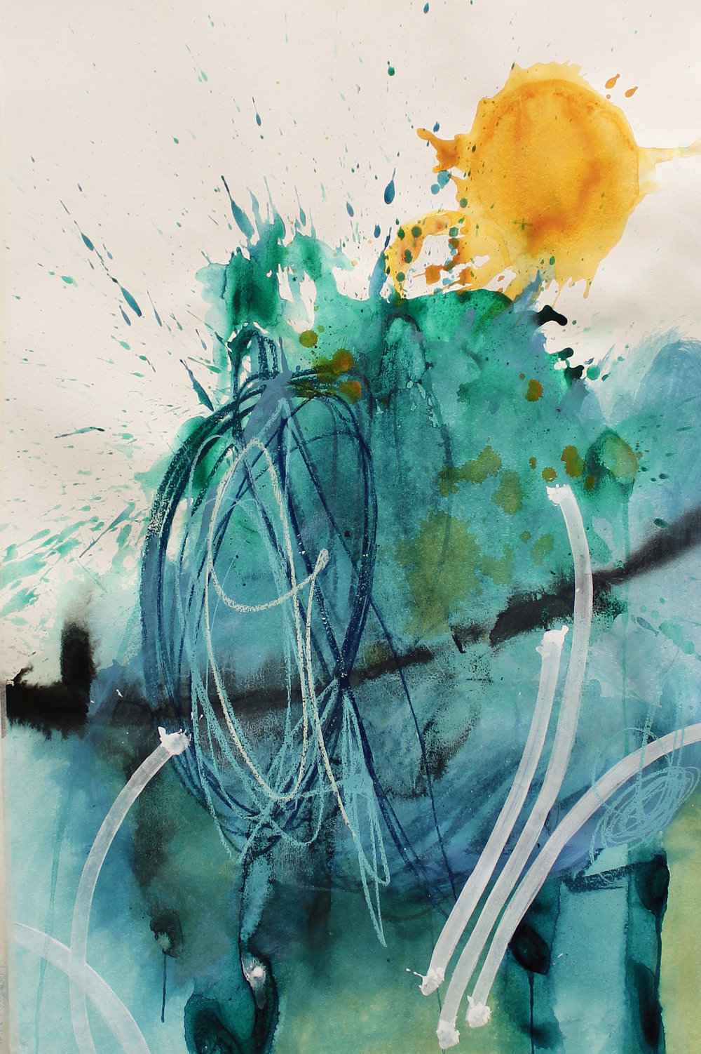 """""""Little bit of a Chance"""", Mix media on paper, 110x72cm, 2018   ~   Request Availability"""