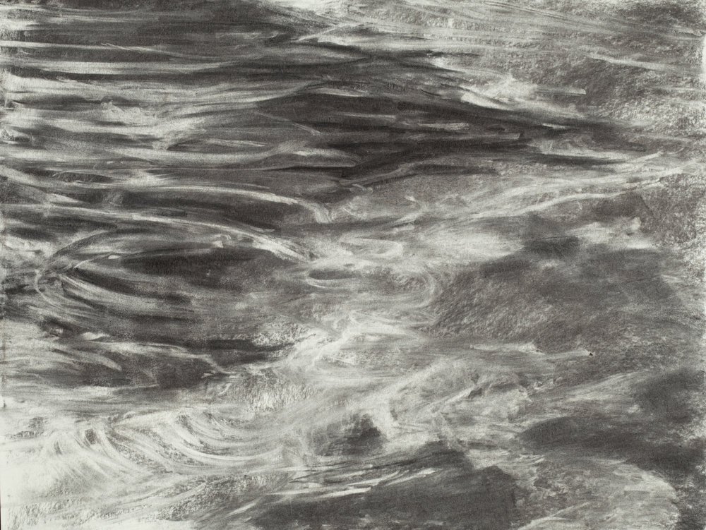 """River   Charcoal on Paper (24"""" x 19"""")"""