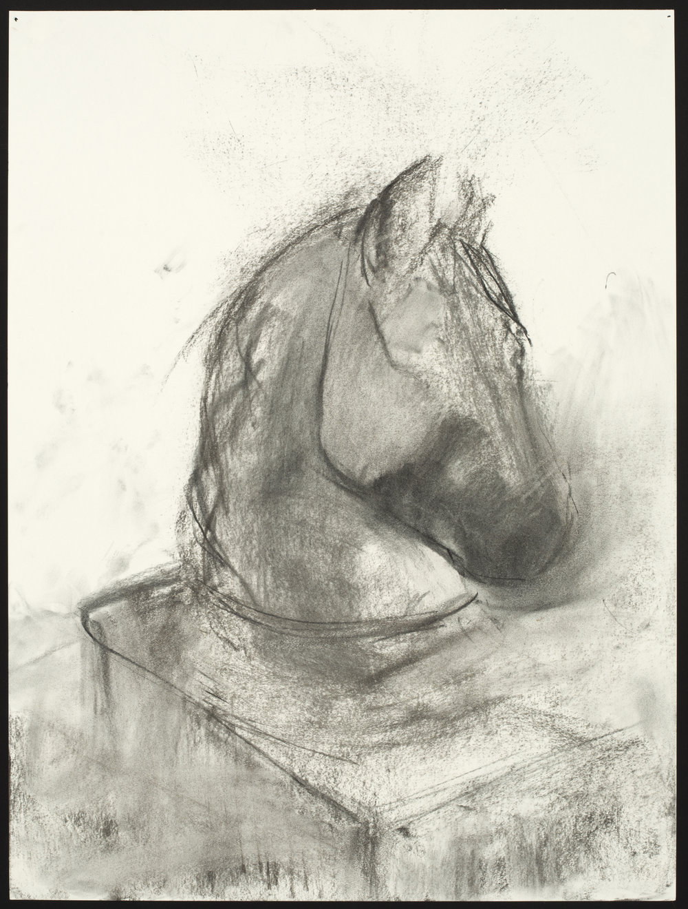 """Statue  Charcoal on Paper (24x18"""")"""