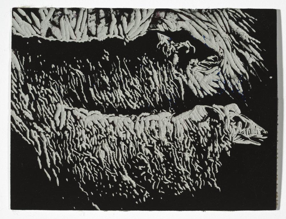 "10 Steps: Sheep   Silk Cut Linoleum Plate (9x9"")"