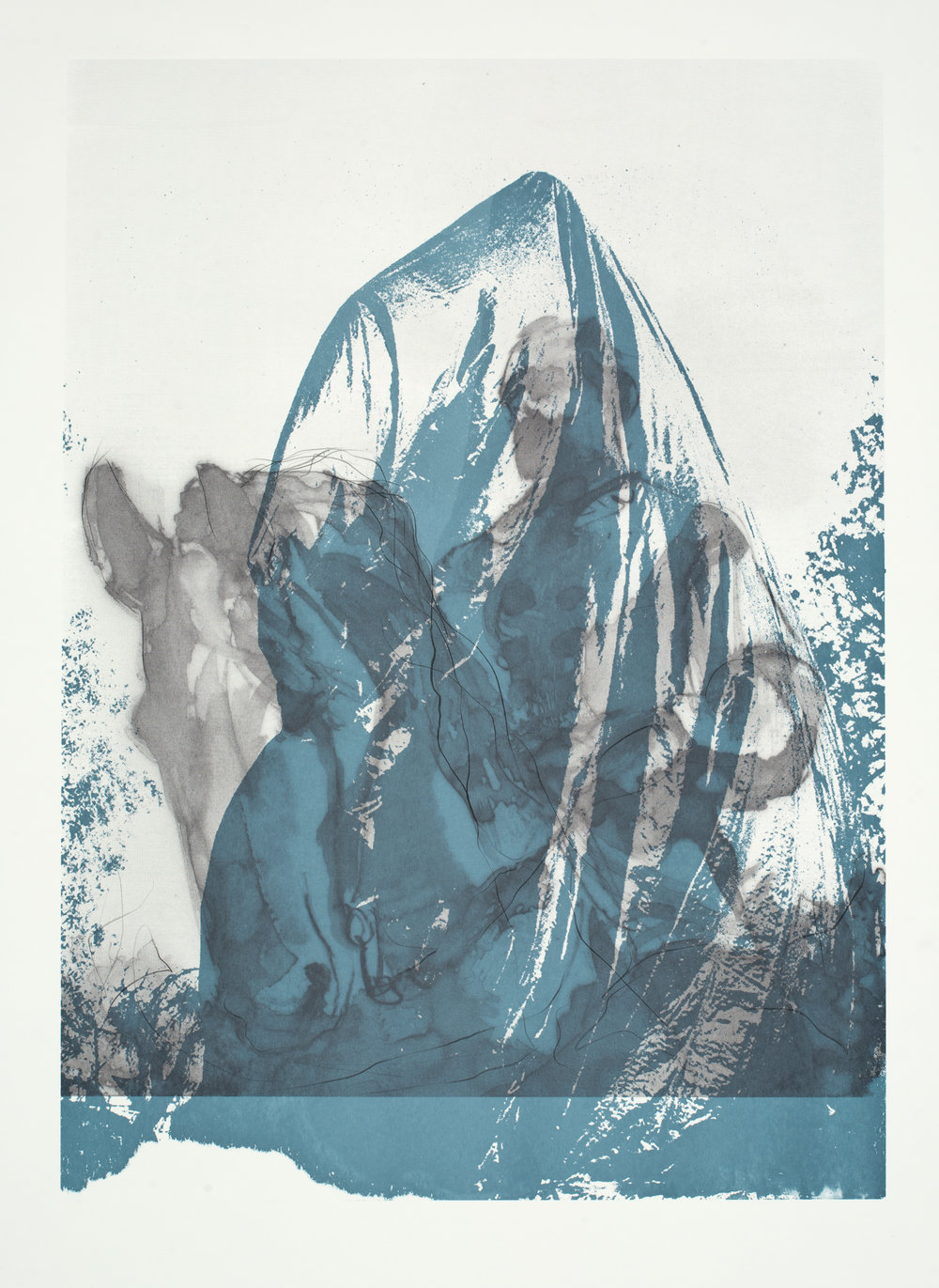 "Charlottesville:  Shrouded _03  Screenprint (40x32"")"