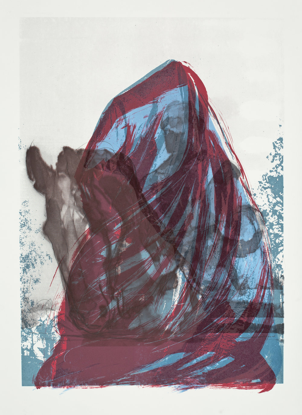 "Charlottesville:  Shrouded  _05  Screenprint (40x32"")"