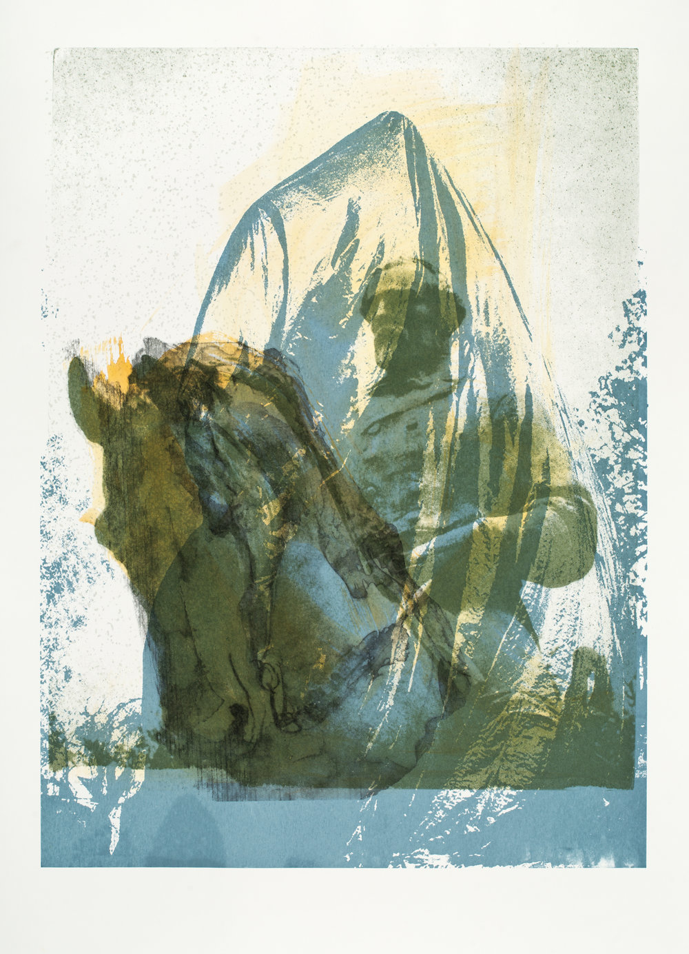 "Charlottesville:  Shrouded _06  Screenprint (40x32"")"