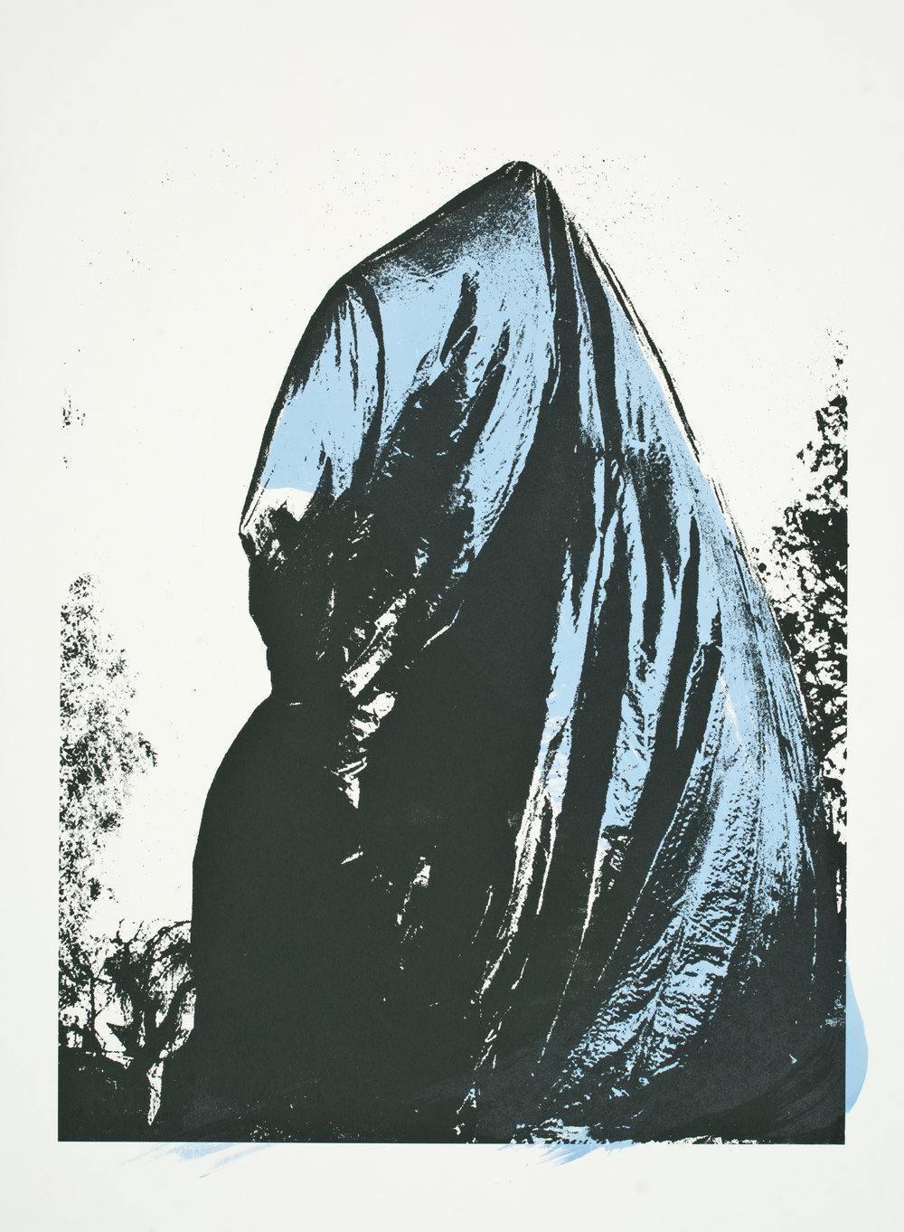 "Charlottesville:  Shrouded_  ?  Screenprint (40x32"")"