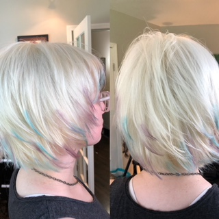 Platinum hair color