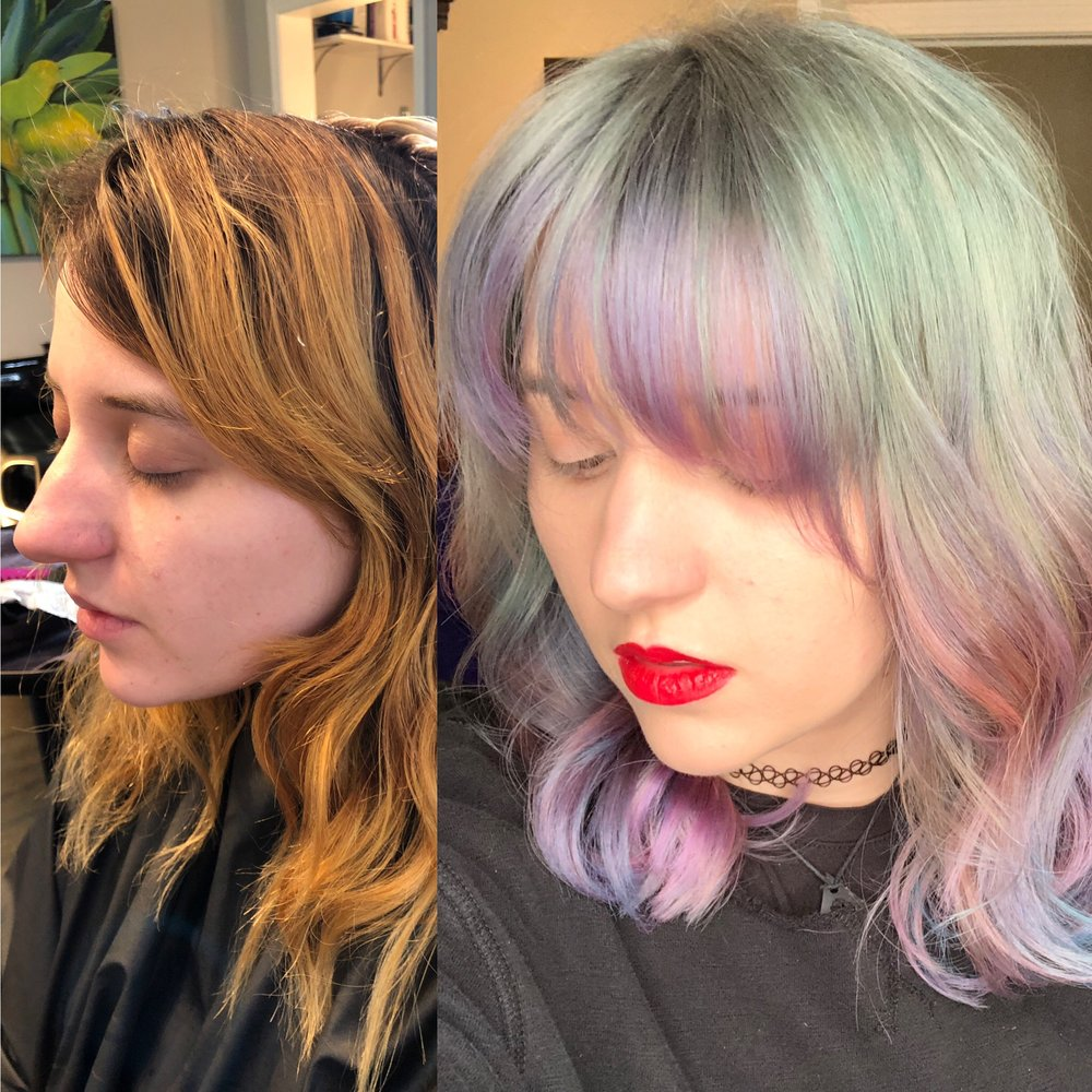 Fun pastel hair color