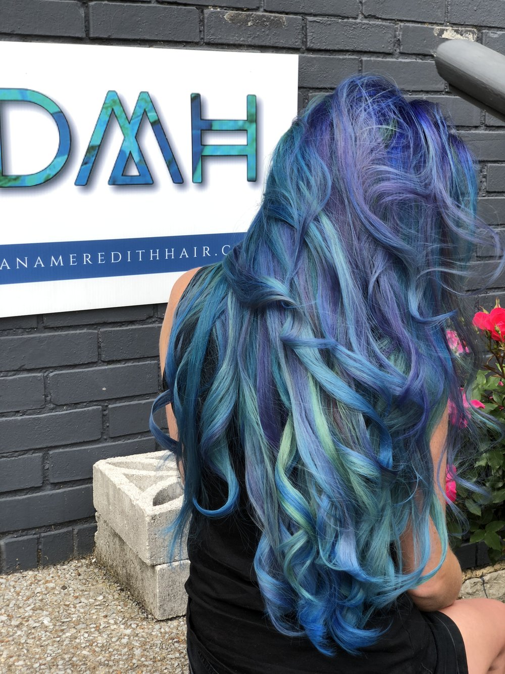 Vivid hair color