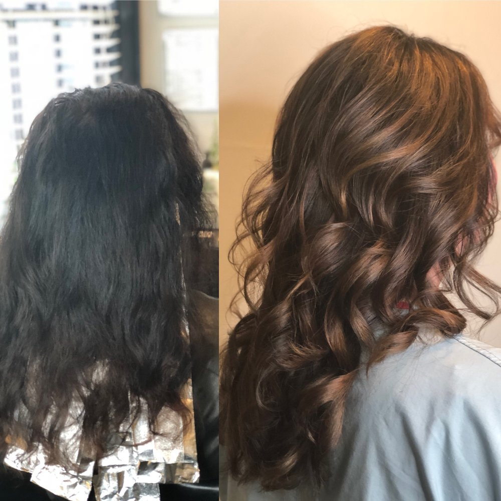 before and after. Salon in Nashville Tn