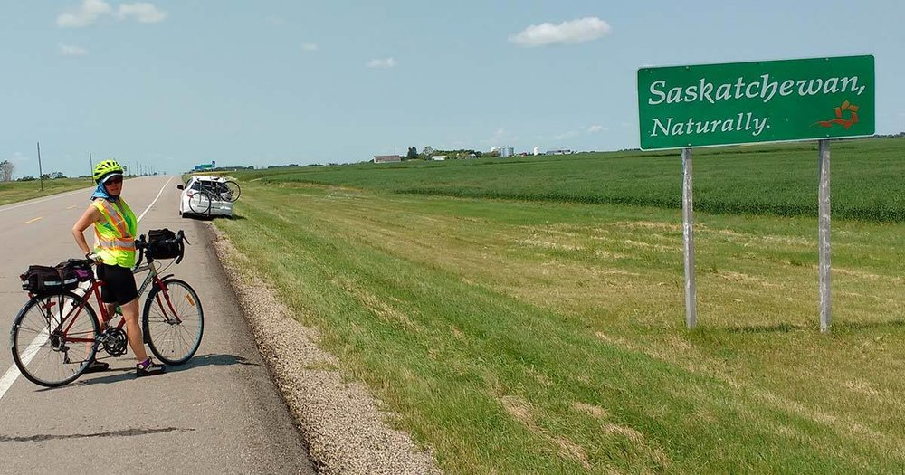 Seely Alder crosses the border into Saskatchewan in early July.