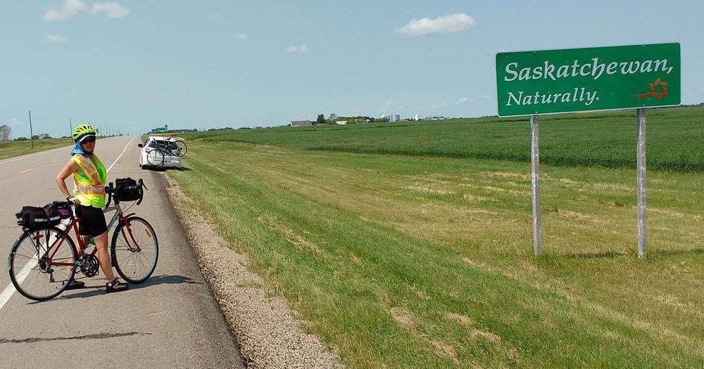 Seely Alder crosses the border into Saskatchewan in early July.