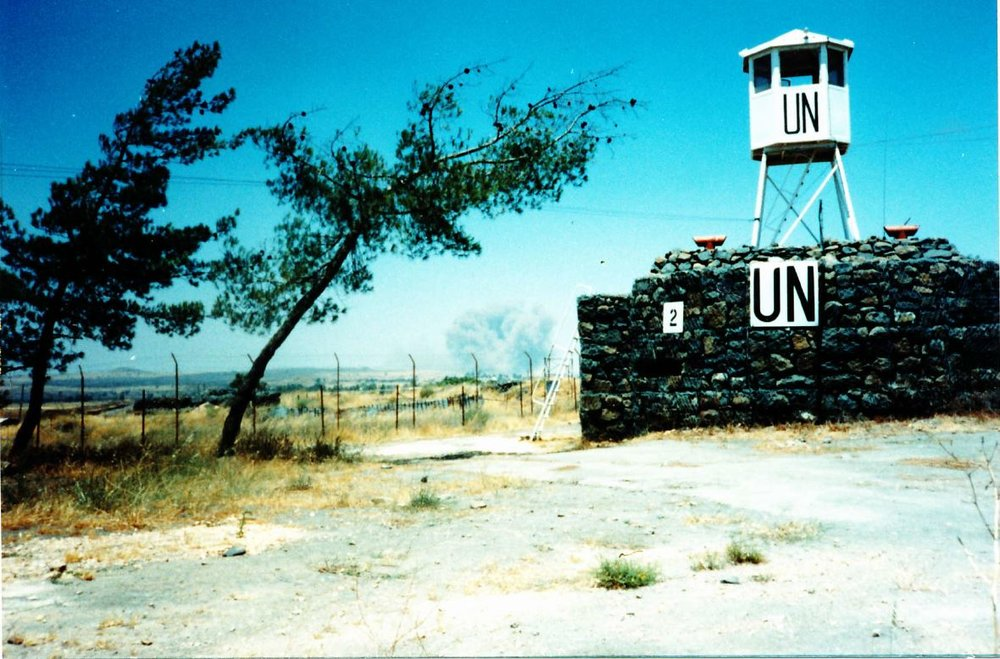 Bunker with observation tower - explosions in background were from idf replacing old mines