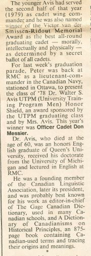 RMC Grad Parade Whig Article Pete Dr Avis 2.JPG