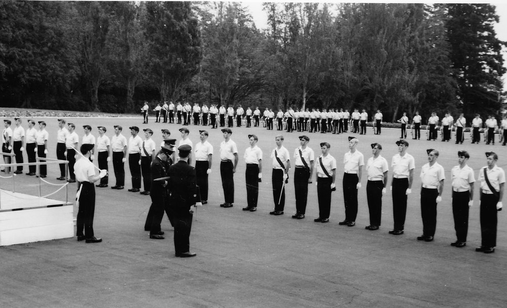 """second years on parade - can you spot the """"one of these things is not like the others?"""" if not ask john (with the sword facing front). Come to think of it, might want to have a chat with reg best and gary (?) about belts"""