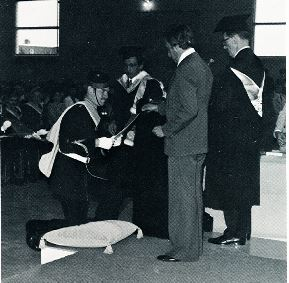 daniel st-cyr (?) receiving degree
