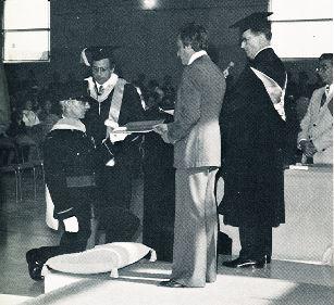Robert Moquin (utpm) receiving degree