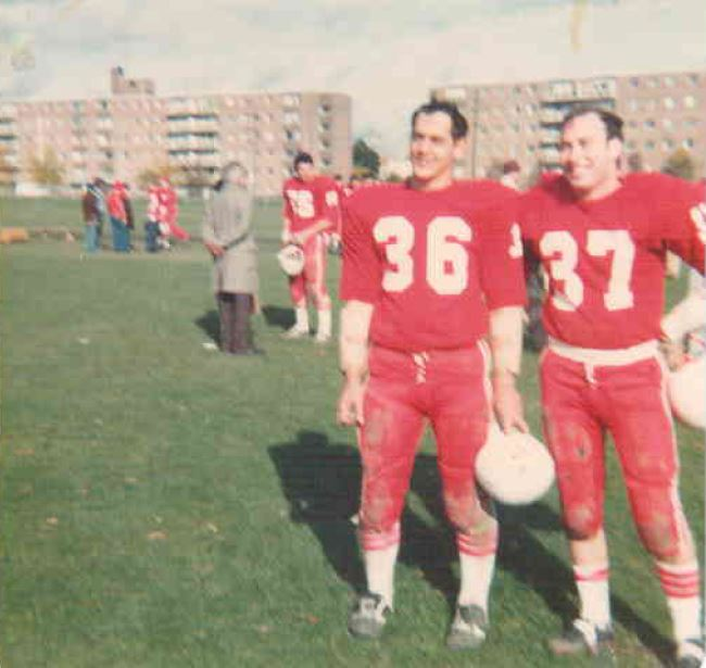dave bannister and craig wood after a game in toronto