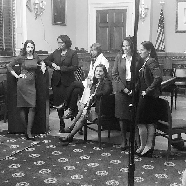 We ❤️ this so much! Just a few of the many amazing women getting ready to take over in January. #pinkwave