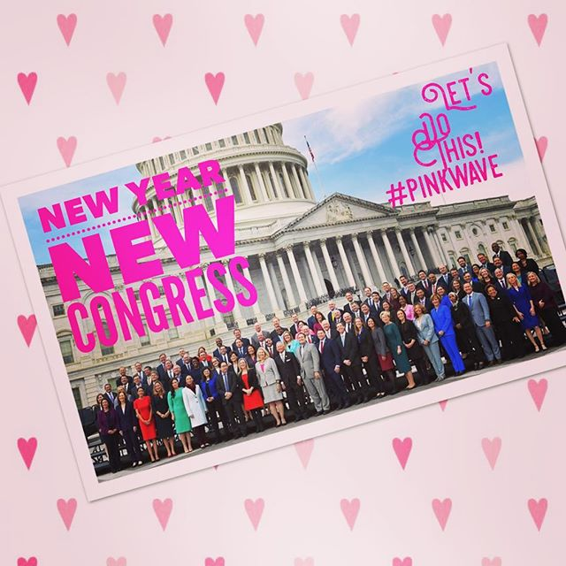 We are so excited for January 3rd when the largest number of women ever head to Congress! Happy New Year!! #pinkwave