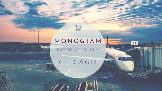 we are flying to chicago to visiti the mongram experience center to learn more about the latest introductions in kitchen appliances.