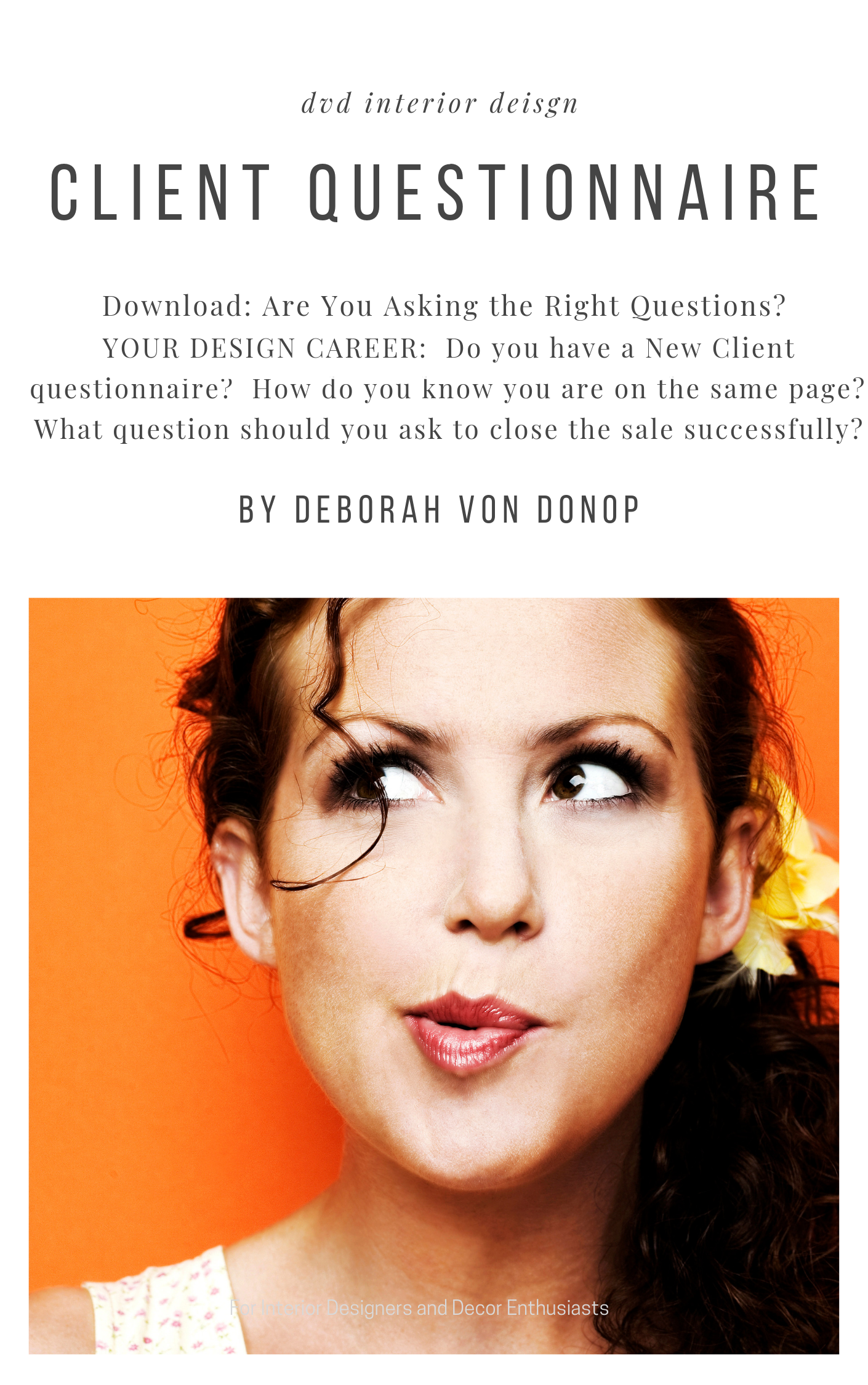 New Client Questionnaire Are You Asking The Right Questions Dvd Interior Design