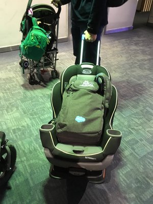 Car Seat Dolly For The Airport Yes Please Good Stuff Without Fluff