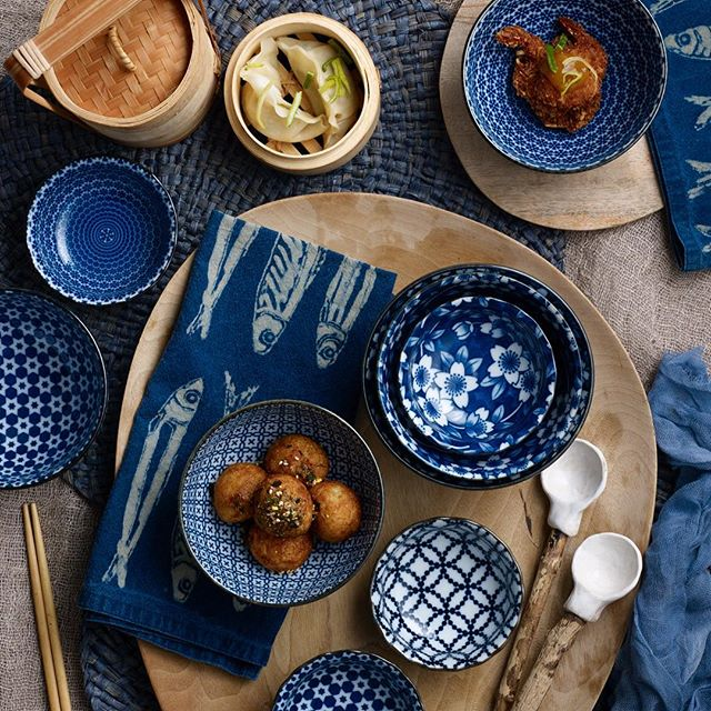 Japanese blue & white ceramics by @noritakeaus 📸 photography & styling by me of course