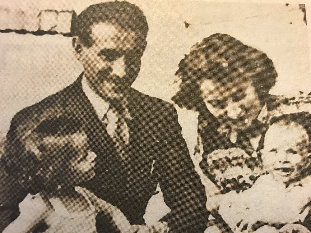 Selma and Chaim Engel with their family in happier times