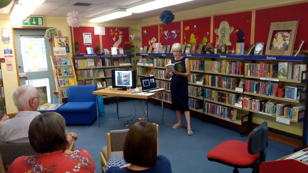 I gave a reading from The Hidden Village at Carterton Library