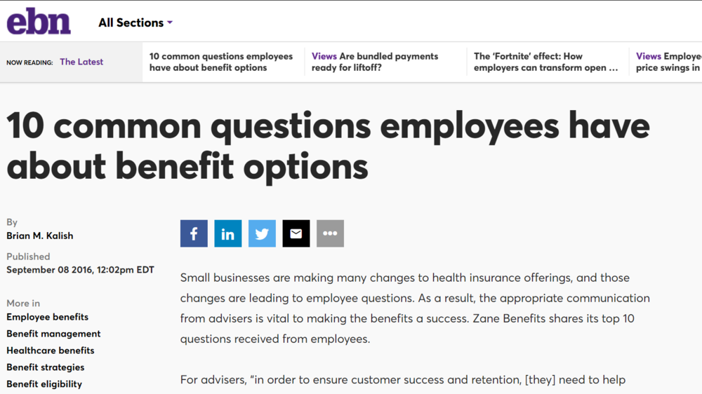 10 common questions employees have about benefit options