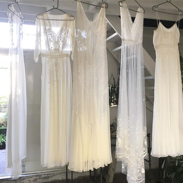 Silk georgette and mesh embroidered bridal gowns #embroideredweddingdress #modernbride #gettingmarried #bridalgown  #weddingdress #silkdress #whiteonwhite #handembroidery #dreamdress #bridetobe #londonbride #ethicalweddingdress #slowfashion #ethicalfashion #newbridalcollection