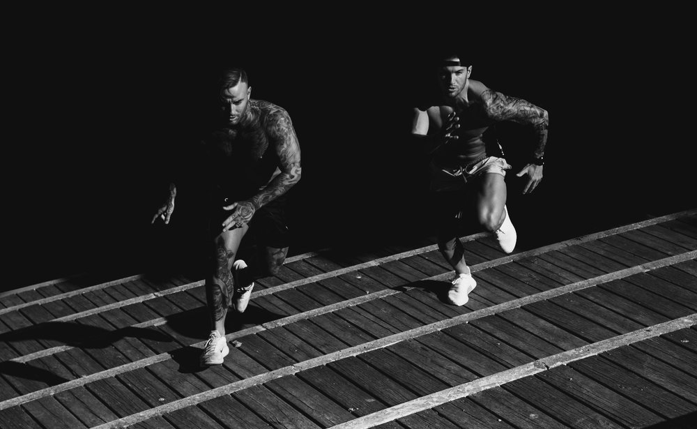 Run with someone - For an additional element of safety, consider running with a jogging partner after dusk. Not only will running with a partner make your run more enjoyable, it may also deter interlopers who may not have good intentions.