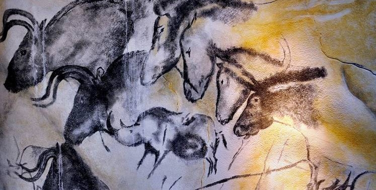 From Chauvet Cave, southern France, between c. 33,000 and c. 30,000 years ago. Illustration by  Thomas T.
