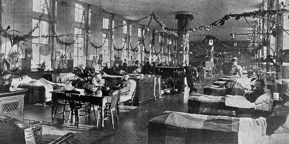 """""""Florence Nightingale"""" ward, St. Thomas's Hospital, adopting the principals of Florence Nightingale, considered the first to practice """"evidence-based design."""""""