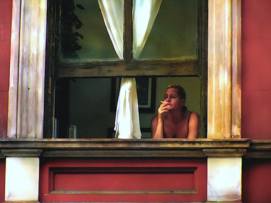 Edward Hopper, Woman Smoking, Looking Out Window, 1940.