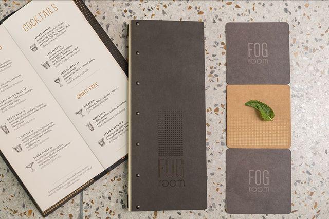 Interior menu design, coasters, menu shells, signage, branding, we do it all. #restaurant #tasteenvy #menudesign