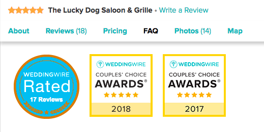 WeddingWire couples' choice awards -