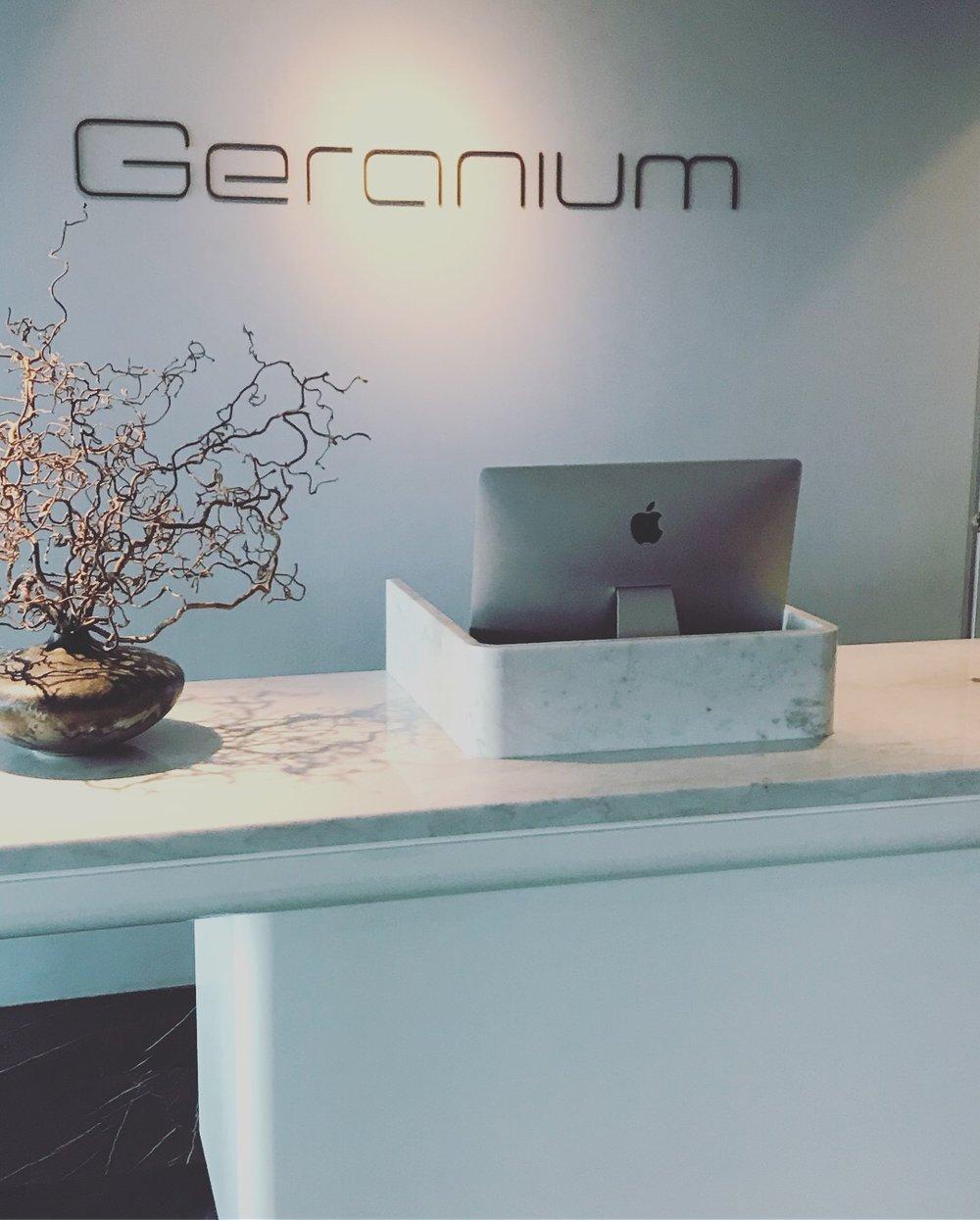 Geranium restaurant entrance