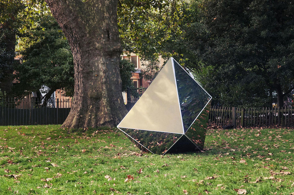 This reflective twelve-sided irregular dodecahedron was shaped by its local context -