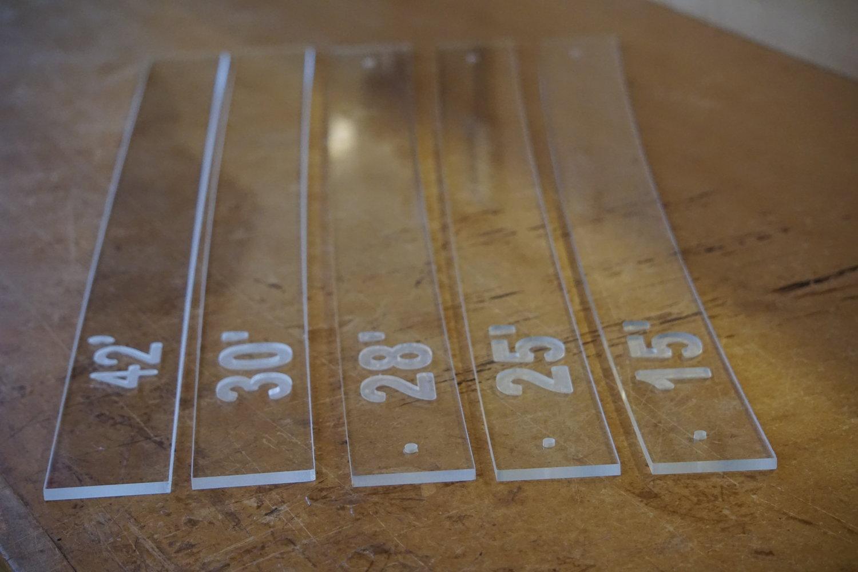 Contour Pattern Radius Gauges Luthier Suppliers