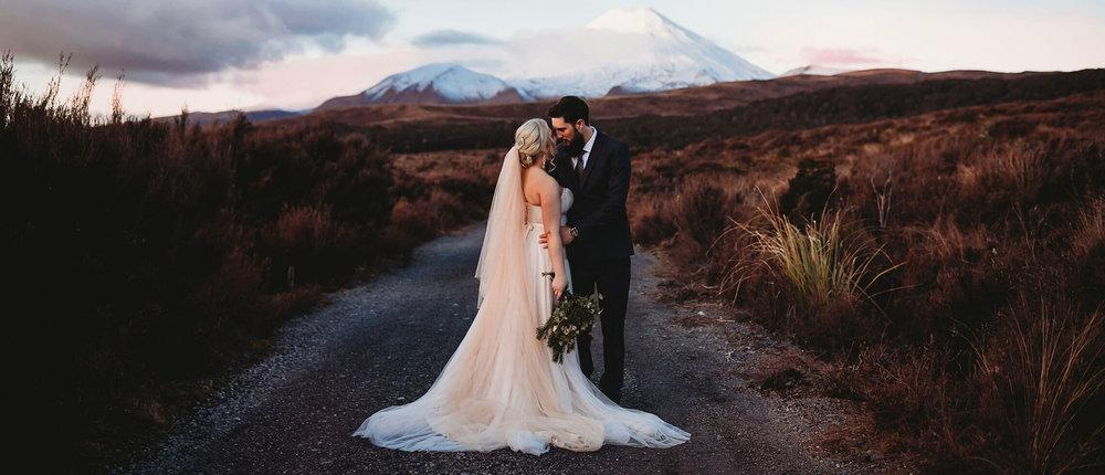Chateau Tongiriro wedding-Mount Ngauruhoe-New Zealand