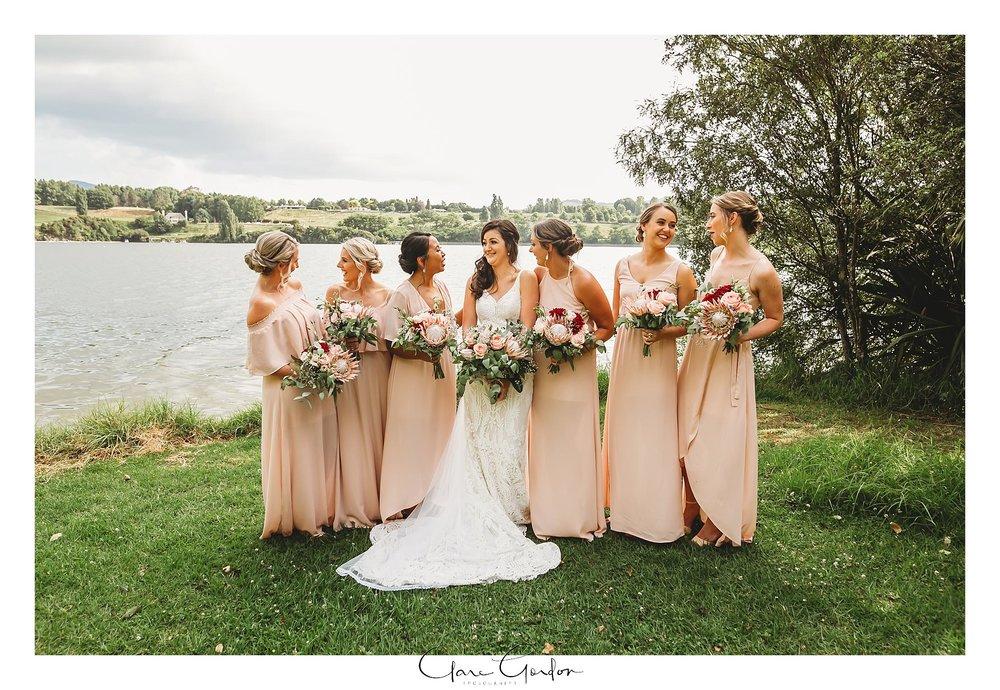 Bridesmaids-Laughing-lake-karapiro