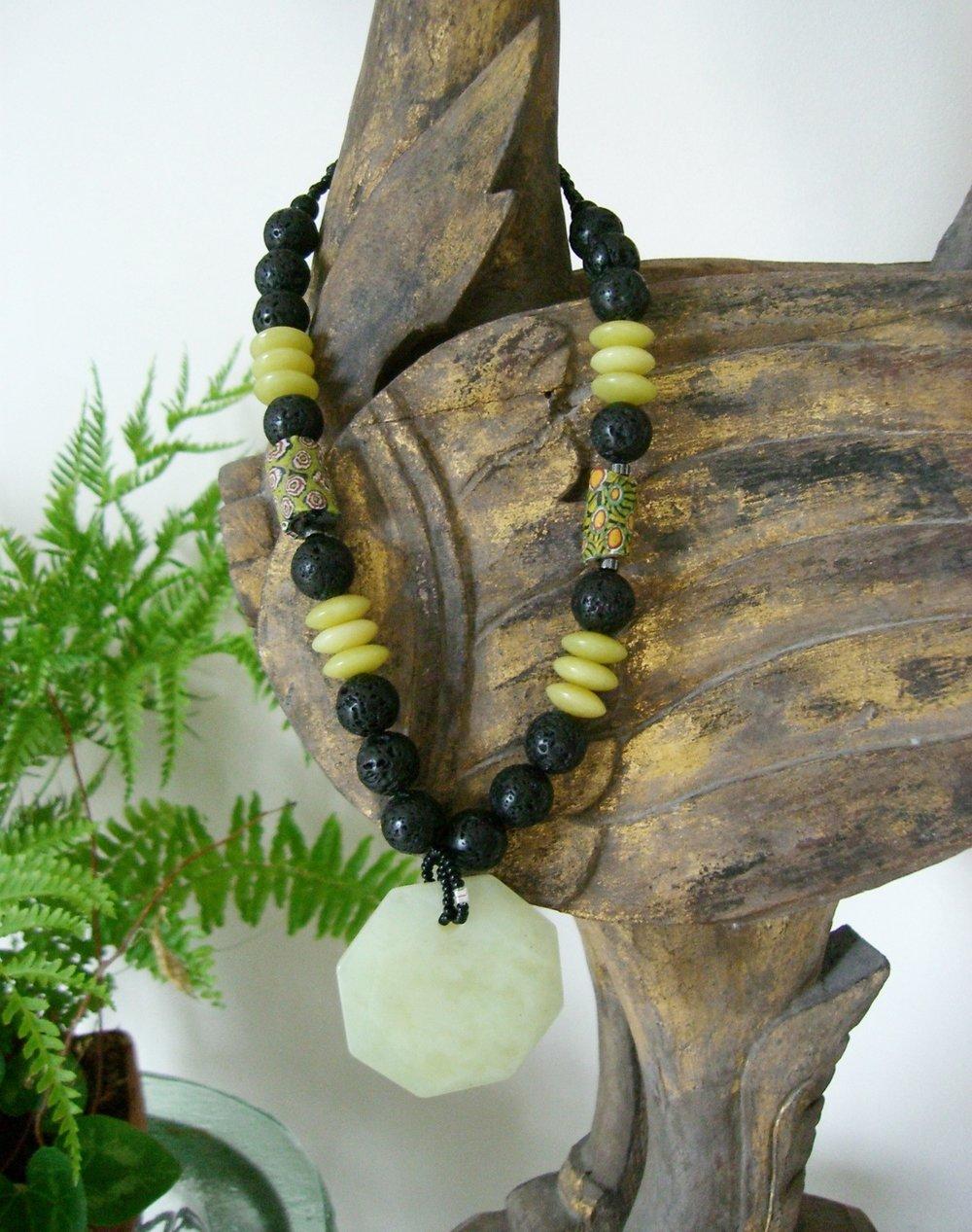 #126  Octagonal Green Jade Sold