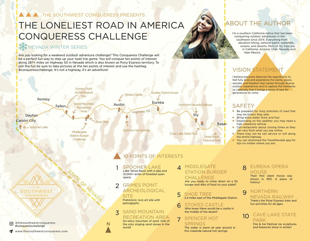 Loneliest Road In America Map.The Loneliest Road In America Conqueress Challenge Map Download
