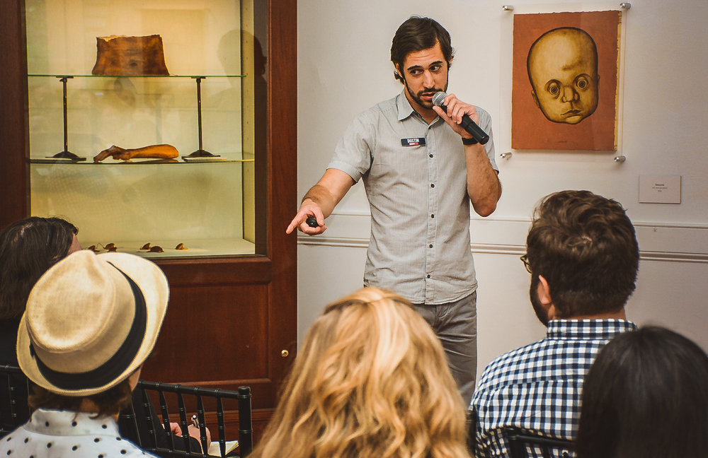 Dustin Growick, Senior Creative Consultant for Museum Hack, at the 2016 Annual Meeting.