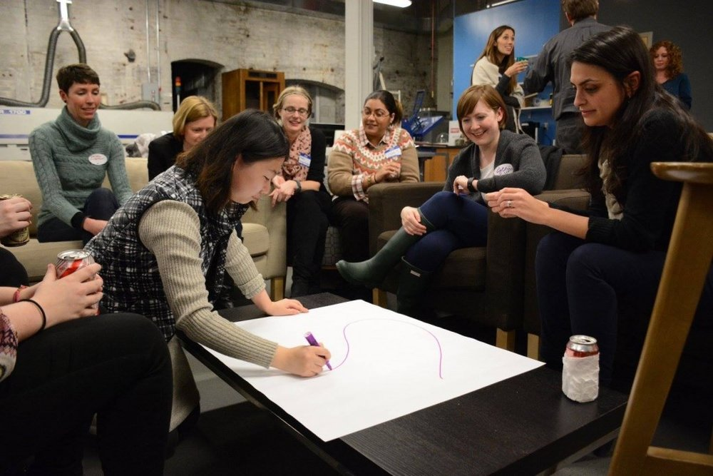 """During last year's University Night, attendees worked together to map out a plan for their """"dream museum."""""""