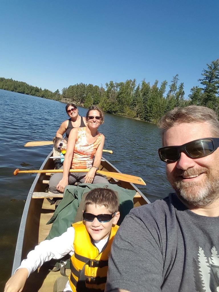 Jill Hauwiller - Family - canoeing