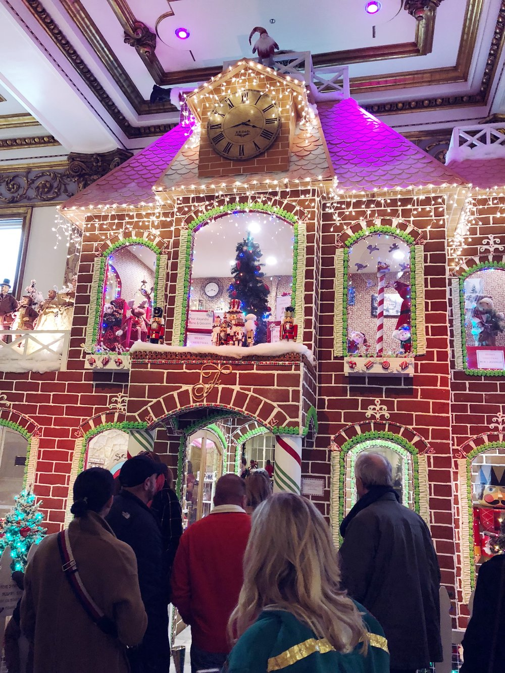 The real reason I walked all the way to The Fairmont… They have a life-size gingerbread house in the lobby! It's made with real gingerbread and candy.