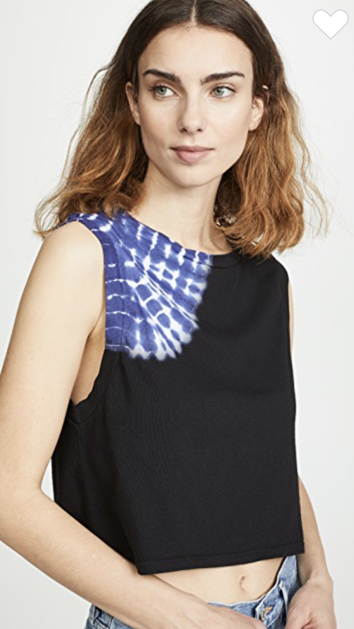 Photo courtesy of shopbop.com   AGOLDE Cropped Tie Dye Muscle Tee - $88
