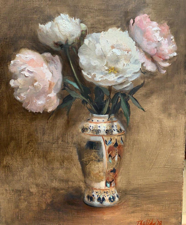 Peonies in Chinese Vase